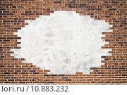 Купить «Brick wall (frame) and cement background », фото № 10883232, снято 20 ноября 2018 г. (c) PantherMedia / Фотобанк Лори