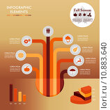 Купить «Fall season infographic tree elements Autumn graphic EPS10 file.», иллюстрация № 10883640 (c) PantherMedia / Фотобанк Лори