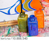 color bottles with dyes. Стоковое фото, фотограф Valery Vvoennyy / PantherMedia / Фотобанк Лори