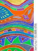drawn pattern of batik. Стоковое фото, фотограф Valery Vvoennyy / PantherMedia / Фотобанк Лори