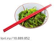 Купить «seaweed salad in ceramic bowl», фото № 10889852, снято 10 июля 2020 г. (c) PantherMedia / Фотобанк Лори