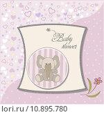 Купить «romantic baby girl announcement card», фото № 10895780, снято 23 февраля 2019 г. (c) PantherMedia / Фотобанк Лори