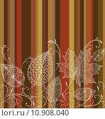 Купить «Vintage autumn leaves seamless pattern background. EPS10 file.», иллюстрация № 10908040 (c) PantherMedia / Фотобанк Лори