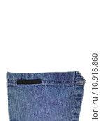 Купить «A denium blue jean pocket shot up close», фото № 10918860, снято 24 января 2019 г. (c) PantherMedia / Фотобанк Лори