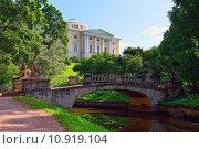 Купить «Summer landscape of the Pavlovsk garden, Russia. View to the palace.», фото № 10919104, снято 18 февраля 2019 г. (c) PantherMedia / Фотобанк Лори