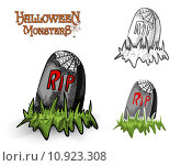 Купить «Halloween monsters spooky tombstone illustration EPS10 file», иллюстрация № 10923308 (c) PantherMedia / Фотобанк Лори