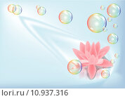 Купить «lotus and bubbles», иллюстрация № 10937316 (c) PantherMedia / Фотобанк Лори