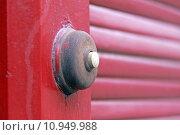 Купить «red door bell shutter shutters», фото № 10949988, снято 7 декабря 2019 г. (c) PantherMedia / Фотобанк Лори