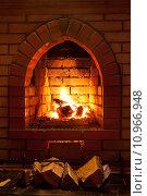Купить «fire in fireplace», фото № 10966948, снято 26 марта 2019 г. (c) PantherMedia / Фотобанк Лори