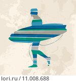 Купить «Vintage multicolor go surfing», иллюстрация № 11008688 (c) PantherMedia / Фотобанк Лори