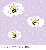 Купить «background with bees», иллюстрация № 11032804 (c) PantherMedia / Фотобанк Лори