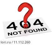 Купить «Red Question Point and Sheet (404 NOT FOUND)», иллюстрация № 11112260 (c) PantherMedia / Фотобанк Лори