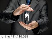 Купить «Family life insurance and policy», фото № 11116028, снято 18 июня 2019 г. (c) PantherMedia / Фотобанк Лори