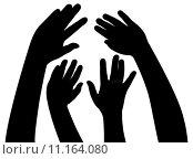 Купить «hands together, vector », иллюстрация № 11164080 (c) PantherMedia / Фотобанк Лори