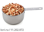 Купить «Chopped pecan nuts in a metal cup measure», фото № 11202872, снято 11 июля 2020 г. (c) PantherMedia / Фотобанк Лори