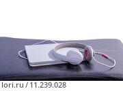 Купить «The TAblet with headphones», фото № 11239028, снято 23 марта 2019 г. (c) PantherMedia / Фотобанк Лори