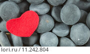 Купить «red love heart stones amid», фото № 11242804, снято 20 октября 2018 г. (c) PantherMedia / Фотобанк Лори
