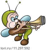 Купить «Bug And Trombone», иллюстрация № 11297592 (c) PantherMedia / Фотобанк Лори