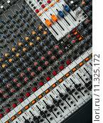 Купить «Recording studio mixing board», фото № 11325172, снято 16 июля 2018 г. (c) PantherMedia / Фотобанк Лори