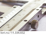 Купить «vernier calipers close up with natural lighting», фото № 11334832, снято 20 июня 2019 г. (c) PantherMedia / Фотобанк Лори