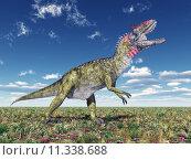 Купить «palaeontology dinosaur saurian dino cryolophosaurus», фото № 11338688, снято 16 октября 2019 г. (c) PantherMedia / Фотобанк Лори