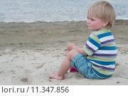 Купить «Little boy in striped t-hirt», фото № 11347856, снято 24 января 2019 г. (c) PantherMedia / Фотобанк Лори