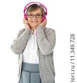 Купить «Attractive old lady wearing headphones», фото № 11349728, снято 23 марта 2019 г. (c) PantherMedia / Фотобанк Лори
