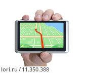 Купить «GPS Hand», фото № 11350388, снято 21 ноября 2018 г. (c) PantherMedia / Фотобанк Лори