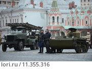 Купить «Историческая военная техника на Красной площади в Москве», фото № 11355316, снято 7 ноября 2013 г. (c) Free Wind / Фотобанк Лори