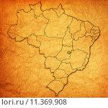 Купить «distrito federal state on map of brazil», фото № 11369908, снято 20 мая 2019 г. (c) PantherMedia / Фотобанк Лори