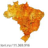 Купить «distrito federal state on map of brazil», фото № 11369916, снято 20 мая 2019 г. (c) PantherMedia / Фотобанк Лори