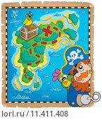 Купить «Treasure map topic image 4», иллюстрация № 11411408 (c) PantherMedia / Фотобанк Лори