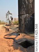Купить «pumpjack pumping crude oil from oil well», фото № 11425568, снято 15 ноября 2018 г. (c) PantherMedia / Фотобанк Лори