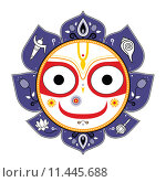 Купить «Jagannath. Indian God of the Universe.», иллюстрация № 11445688 (c) PantherMedia / Фотобанк Лори