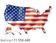 Купить «United States flag map», иллюстрация № 11550448 (c) PantherMedia / Фотобанк Лори