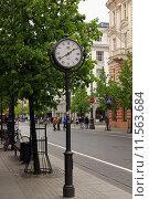 Городские часы (2014 год). Редакционное фото, фотограф Natalia Goleneva / Фотобанк Лори