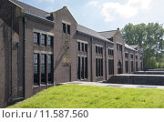 Купить «The ir D.F. Wouda pumping station in Tacozijl, Friesland, The Netherlands.», фото № 11587560, снято 20 октября 2018 г. (c) PantherMedia / Фотобанк Лори