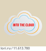 Купить «Concept for cloud computing, networking and social media. Flat design illustration. To add shadow to text and object, please activate the layer!», иллюстрация № 11613780 (c) PantherMedia / Фотобанк Лори