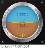 Купить «Airplane attitude indicator design», иллюстрация № 11661564 (c) PantherMedia / Фотобанк Лори