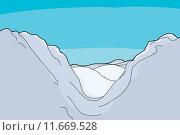 Купить «Mountain Valley Background», иллюстрация № 11669528 (c) PantherMedia / Фотобанк Лори