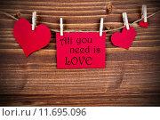 Купить «All you need is Love on a red Label», фото № 11695096, снято 15 июля 2020 г. (c) PantherMedia / Фотобанк Лори