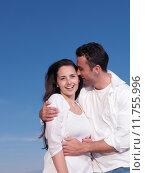 Купить «young couple  on beach have fun», фото № 11755996, снято 5 апреля 2020 г. (c) PantherMedia / Фотобанк Лори