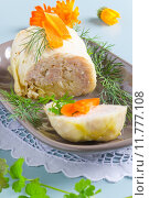 Купить «Cabbage rolls filled with minced meat and rice. », фото № 11777108, снято 26 мая 2018 г. (c) PantherMedia / Фотобанк Лори