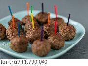Купить «Plateful of tasty fried spicy meatballs», фото № 11790040, снято 20 апреля 2018 г. (c) PantherMedia / Фотобанк Лори