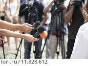 Купить «media interview», фото № 11828612, снято 22 мая 2018 г. (c) PantherMedia / Фотобанк Лори