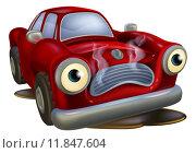 Купить «Cartoon car broken down», иллюстрация № 11847604 (c) PantherMedia / Фотобанк Лори