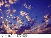 Красивое вечернее небо с легкими облаками. Стоковое фото, фотограф Вячеслав Зяблов / Фотобанк Лори