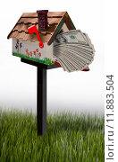 Купить «Mailbox full of money.», фото № 11883504, снято 13 декабря 2018 г. (c) PantherMedia / Фотобанк Лори