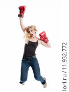 Купить «woman girl girls glib boxing», фото № 11932772, снято 26 марта 2019 г. (c) PantherMedia / Фотобанк Лори