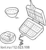 Купить «Outlined Waffle Iron», иллюстрация № 12023108 (c) PantherMedia / Фотобанк Лори